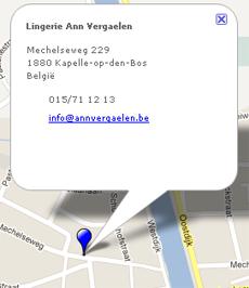 Lingerie Ann Vergaelen - Kapelle-op-den-Bos - Ligging
